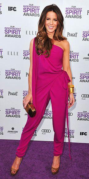 Kate Beckinsale ... inspiração para macacão Sahoco no board Jumpsuits