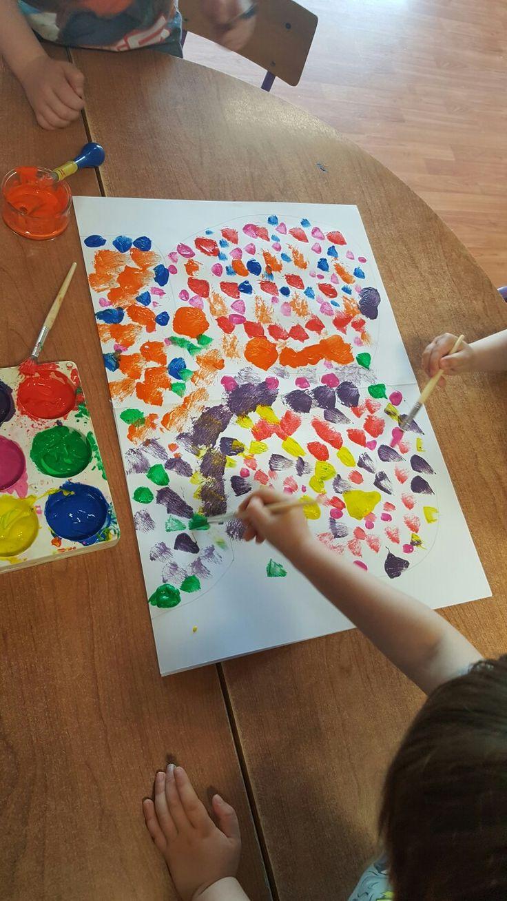 Blob paint butterfly