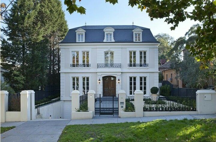 Pin By Dee Estelle On Homes And Everything Within French Provincial Home House Exterior City House