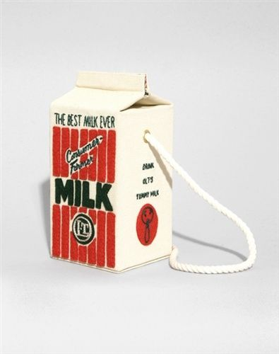 MILK BOX BAG Olympia Le-Tan €790.00 very fun :) ... and very expensive :(