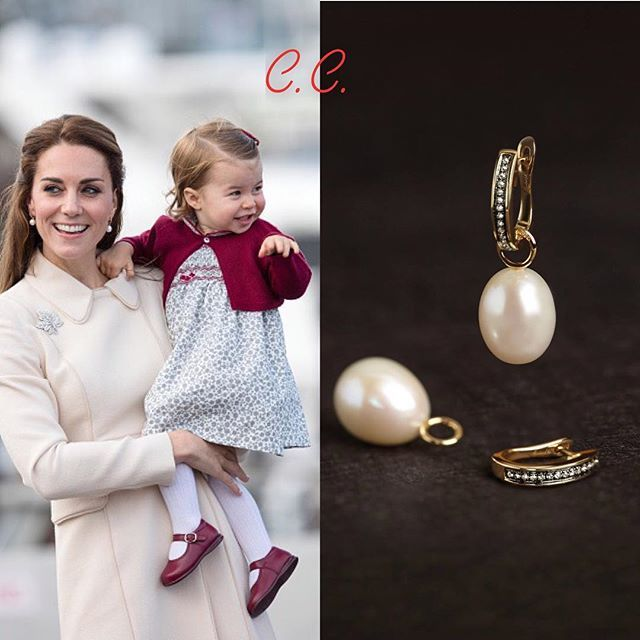 OCTOBER 01, 2016| — Catherine, Duchess of Cambridge did a little bit of royal recycling yesterday! She wore the same pair of beautiful earrings by @annoushkajewellery