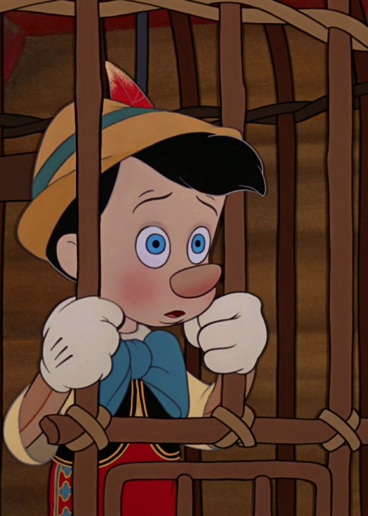 Pinocchio the moment he realizes he made a mistake