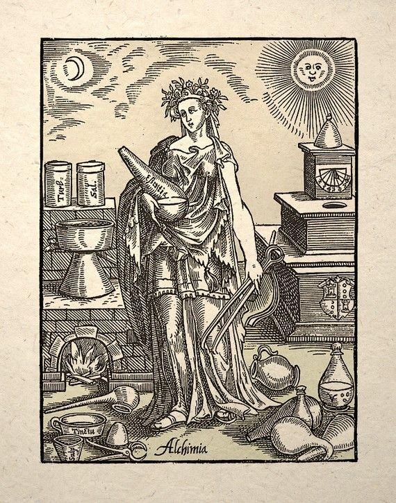 Alchimia, the spirit of Alchemy.