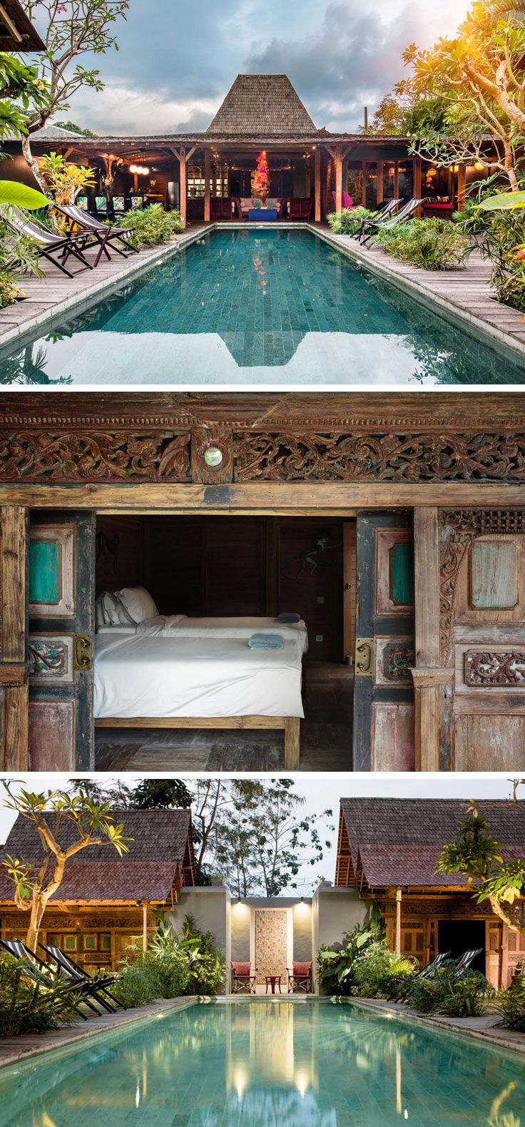 Left my heart here. Really really want to have this kind of home. Bali Unique Villa Gambar #Joglo #style
