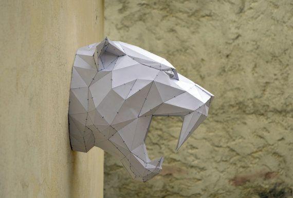 Hacer su propio tigre Sabertooh. Animal de por PlainPapyrus