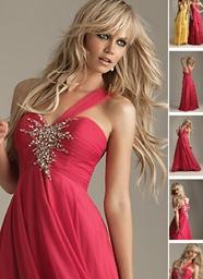 I LIKE THE HAIR!!                     Elegant One Shoulder Prom Chiffon Dress by Night Moves - One Shoulder Prom Chiffon Dress  One Shoulder Prom Chif...