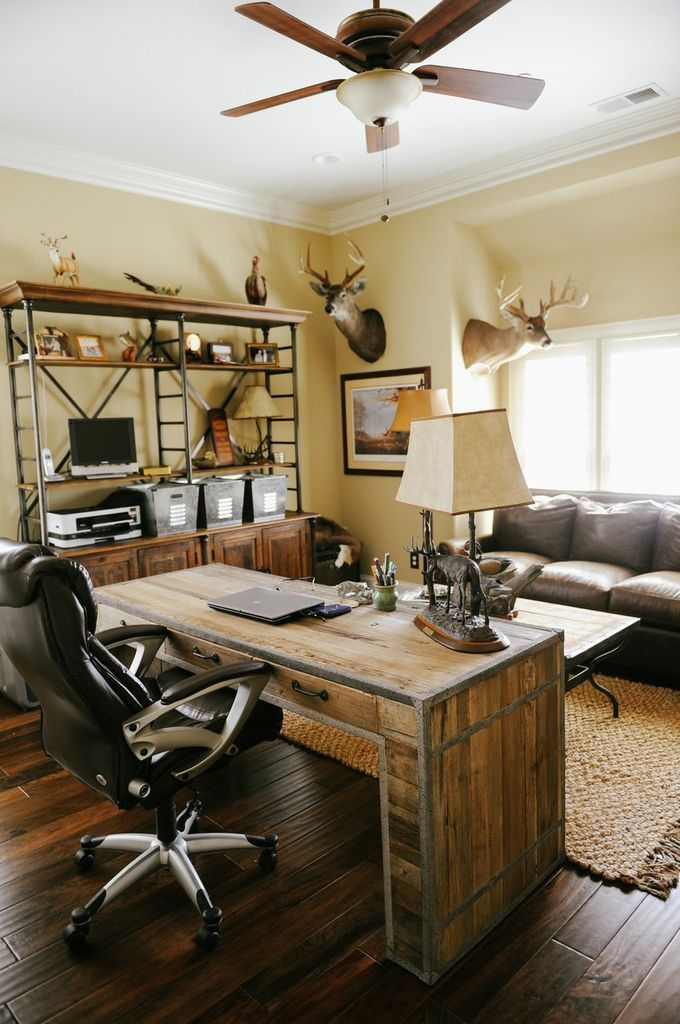 Rustic Office. Designed By First Fruit Collection
