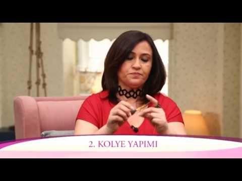 Alize Diva ve Diva Batik ile Pratik Kolye - Practical necklace via Alize Diva and Diva Batik - YouTube