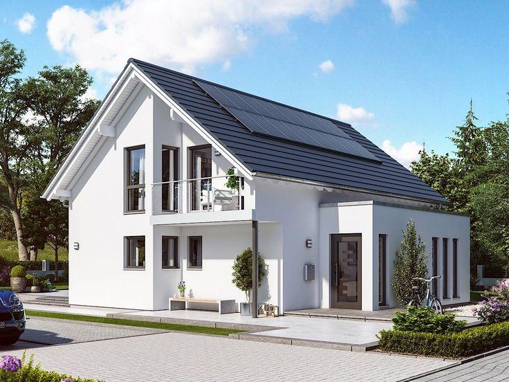 Hausarchitektur Design Modern Zeitgenössisch Europäischer Stil Grundriss SUNSHINE 143 V2 – Traumhausideen mit offenem Grundriss von Living Haus – Ein …