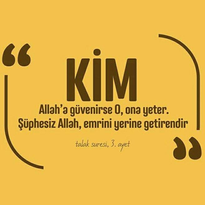 ☝ Kim Allah'a güvenirse O, ona yeter. Şüphesiz Allah, emrini yerine getirendir. [Talak Sûresi, 3] #Allah #güven #yeter #şüphesiz #emir #iman #ayet #islam #müslüman #ilmisuffa