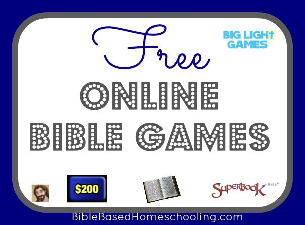 {FREE} Online Bible Games | Bible Based Homeschooling - {On a Budget}