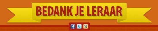 Zo'n 300.000 leraren zetten zich elke dag weer in om het beste uit kinderen te halen. In de week naar 5 oktober, de Dag van de Leraar, kan iedereen in Nederland leerkrachten van nu en van vroeger een blijk van waardering geven.     Bedank die ene inspirerende docent/leraar/meester of juf en deel je blijk van waardering hier!
