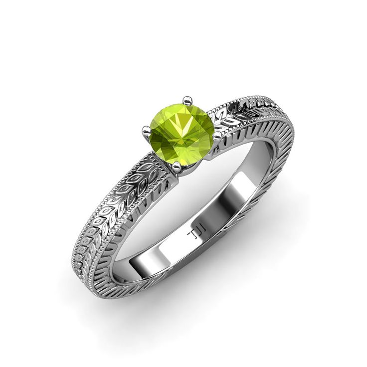 NEW GREEN GEM!  #Peridot #Engagement #Ring #Solitaire #gift #love #christmas #offers #trijewels
