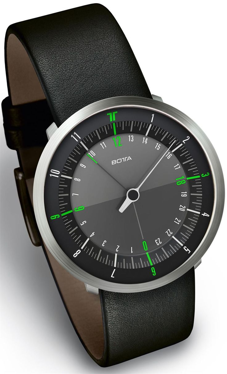 Botta Duo Green Leather | Free Worldwide Shipping from Watchismo