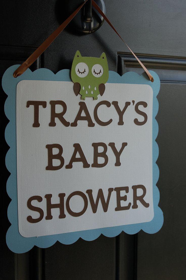 Owl Door Sign, Owl Baby Shower, Owl Birthday, Owl Party Supplies, Door Sign, Welcome Sign. $12.00, via Etsy.