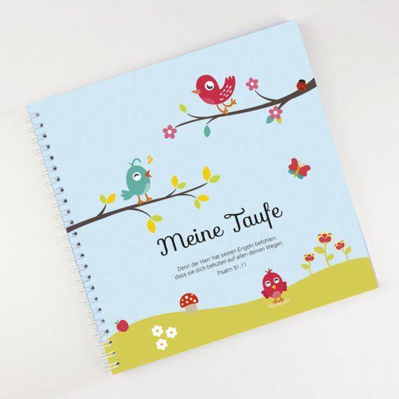 Personalisiertes Taufbuch im VögelchenDesign