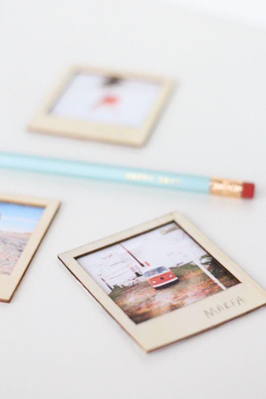 DIY wooden polaroid gift set