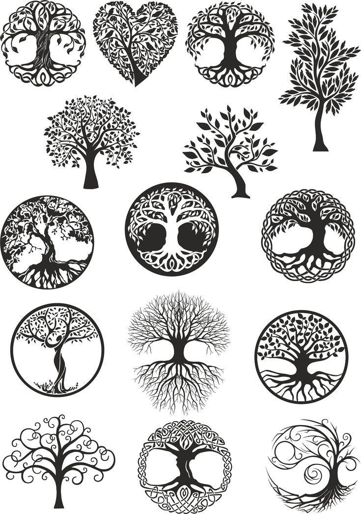 Vektor Ornament, dekorativer Baum des Lebens Vektor, digitale Datei Baum, Baum Dxf, Baum Cdr, Baum Ai, Baum, Baum