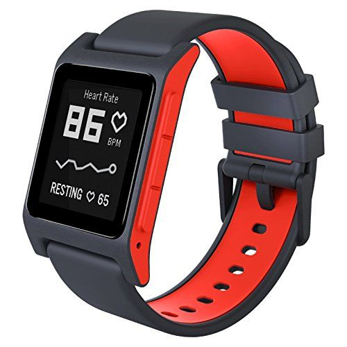 Pebble 2 + Heart Rate Smart Watch- Black/Flame | Top Latest New Tech And Cool Gadgets