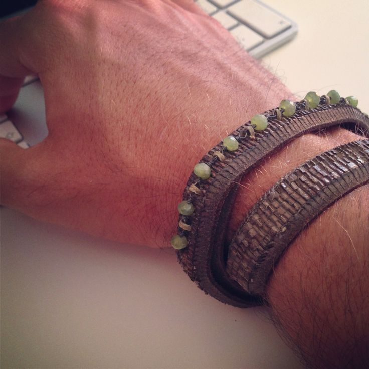 leather man's bracelet. buy it in our e-commerce! #leather #man #look #moda #fashion #vogue #bracelet
