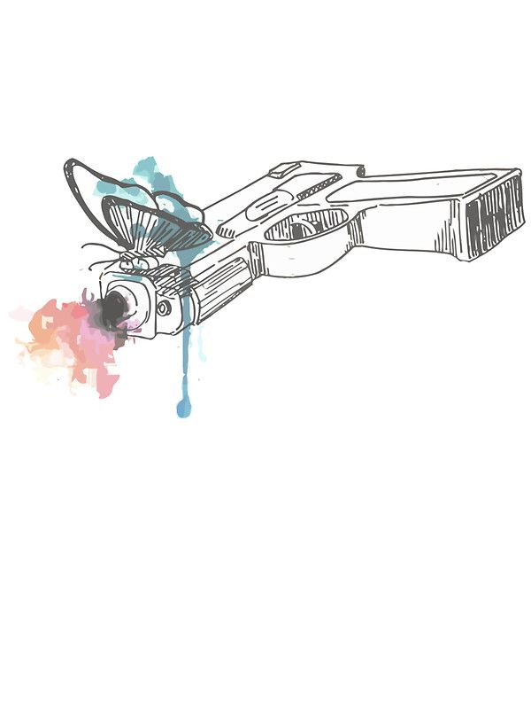 Life is Strange Gun Watercolored by scolecite  holy crap I would love this as a tattoo or something like it