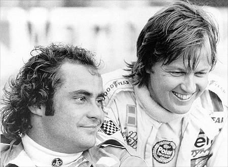 Patrick-Depailler-Ronnie-Peterson-Monaco-1977both driving the 6 wheel Tyrrell which by now appeared to be a flop! Description from pinterest.com. I searched for this on bing.com/images