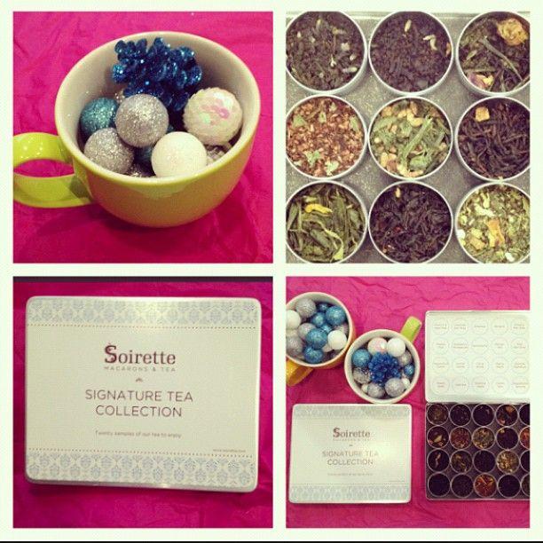 Soirette signature tea collection.  #Soirette #tea #gift