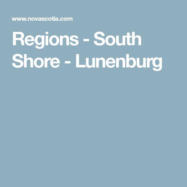 Regions - South Shore - Lunenburg