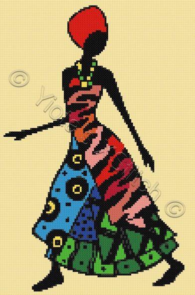 African lady cross stitch kit, pattern | Yiotas XStitch