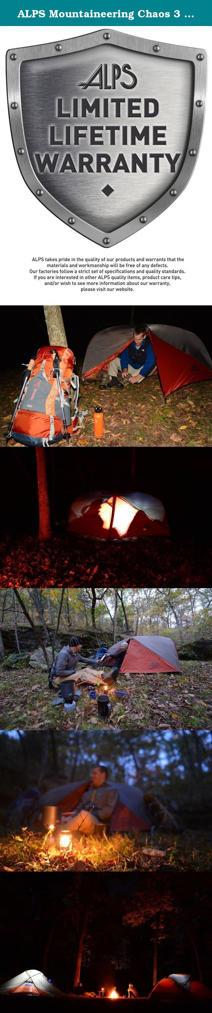 ALPS Mountaineering Chaos 3 Tent 3-Person 3-Season. Whether youu0027re car c&ing with friends or in the backcountry the Eureka Chaos 3 Tent is goingu2026 & ALPS Mountaineering Chaos 3 Tent 3-Person 3-Season. Whether youu0027re ...