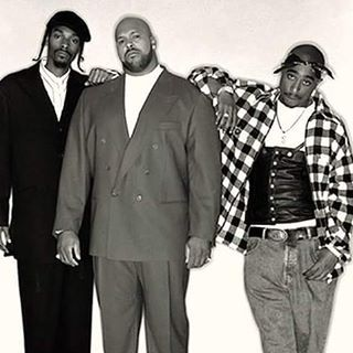 Snoop Dogg, Suge Knight, and Tupac Shakur