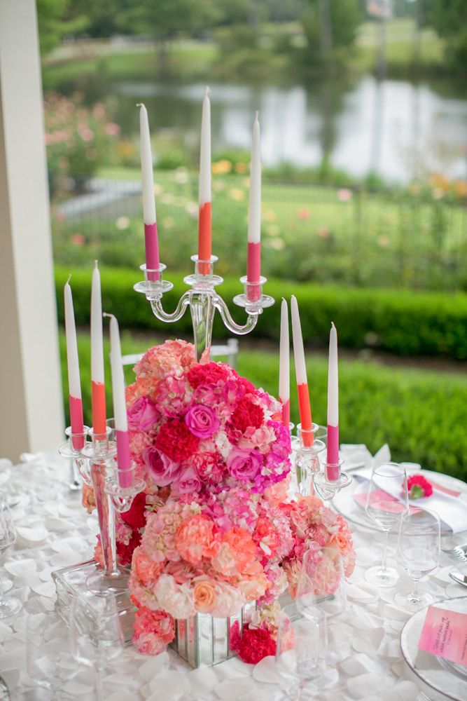 Dip dyed Candles DIY: www.theperfectpalette.com Photo by KMI Photography, Floral Design by Fiore Fine Flowers