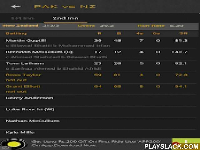 Cricket Live Scores & News  Android App - playslack.com , What's New?1. 'Zero-Touch Scorecard' Widget that can be positioned ANYWHERE on EVERY SCREEN, updates you with latest score of a live match2. Lightweight animation on your screen when a boundary is scored or a wicket falls3. Latest news on IPL 20154. Ball-by-Ball CommentaryApp Description:-----------------------This IPL season, Divum brings to you 'Cricket Live Scores – IPL Edition', the most unique, lightweight app that changes the…