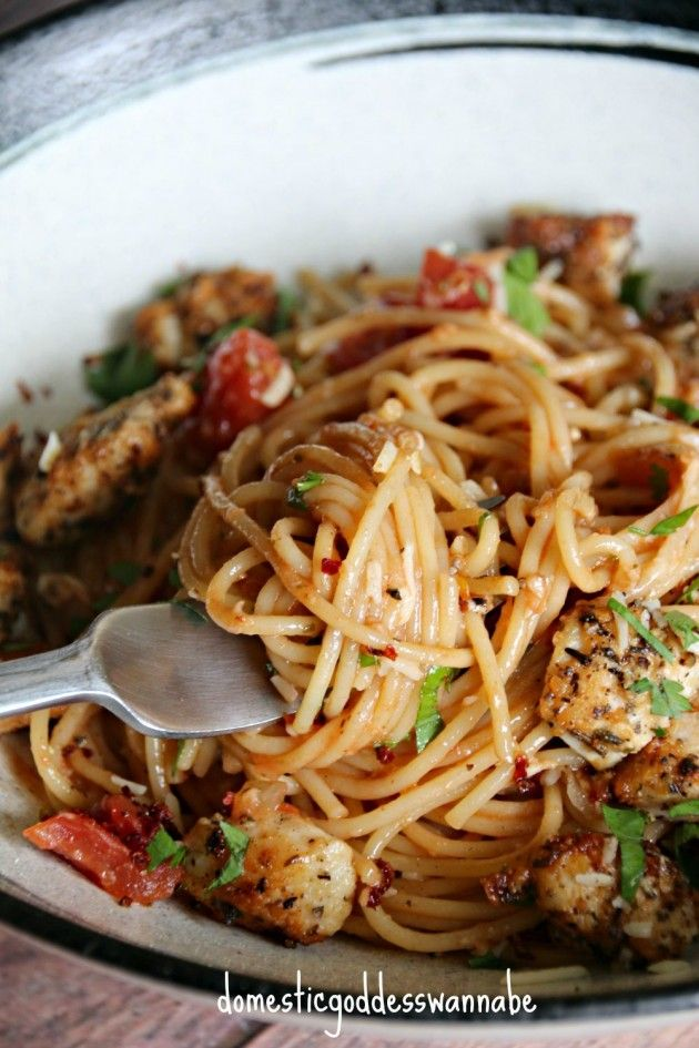 One-Pot Spaghetti With Chicken Parmesan