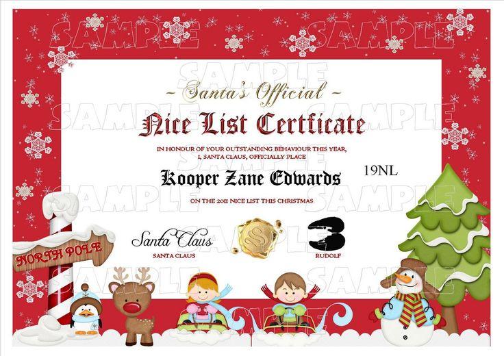 Personalised Santa Letter - Good/Nice List Certificate