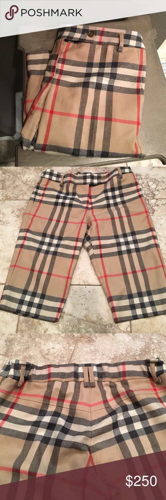 Amazing 100% authentic Burberry shorts! 99% wool Burberry shorts excellent condition like new. 100% authentic !has little stretch in the back which makes it have little more room! Burberry Shorts