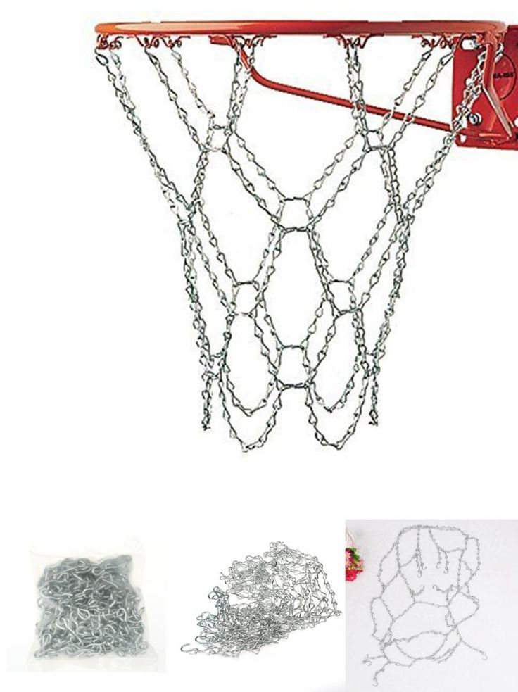 [Visit to Buy] Premium Champion Sports Galvanized Steel Chain Basketball Goal Net Replacement Basketball Net For Basketball Rim Ball Pum #Advertisement