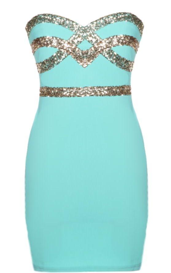 Mint Diamond Dress
