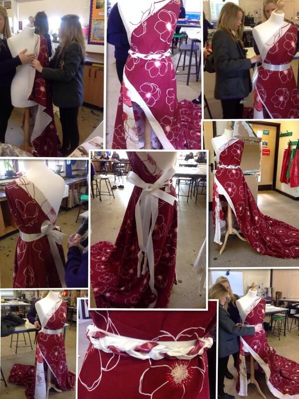 Made from a bed sheet would you believe!