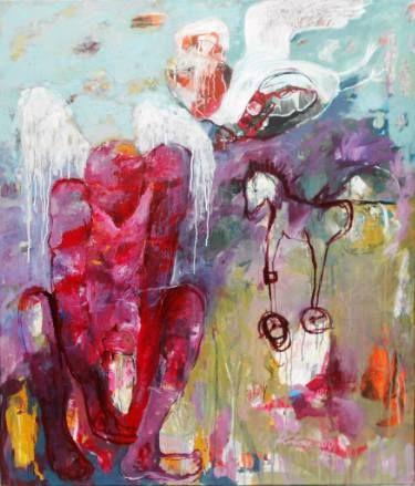 "Saatchi Art Artist RENATA KACOVA; Painting, ""THOUGHTS"" #art"