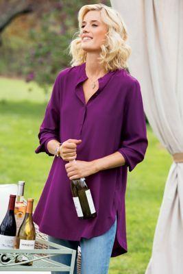Supreme Silk Tunic - Silk Tunic, Tunic Shirt   Soft Surroundings