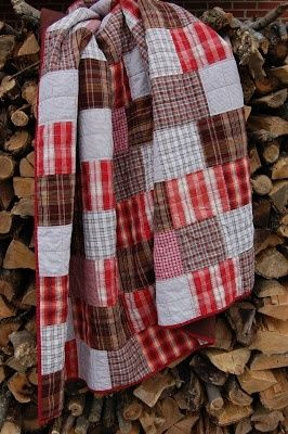 Farm Gal Designs: Sam's 'Big Boy' Quilt. These colors are great