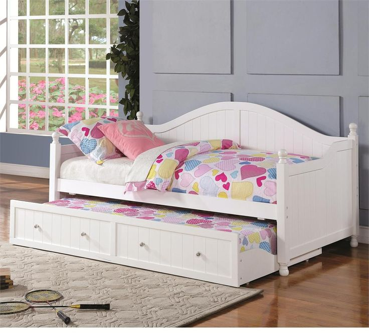 Ellie White Daybed with Trundle