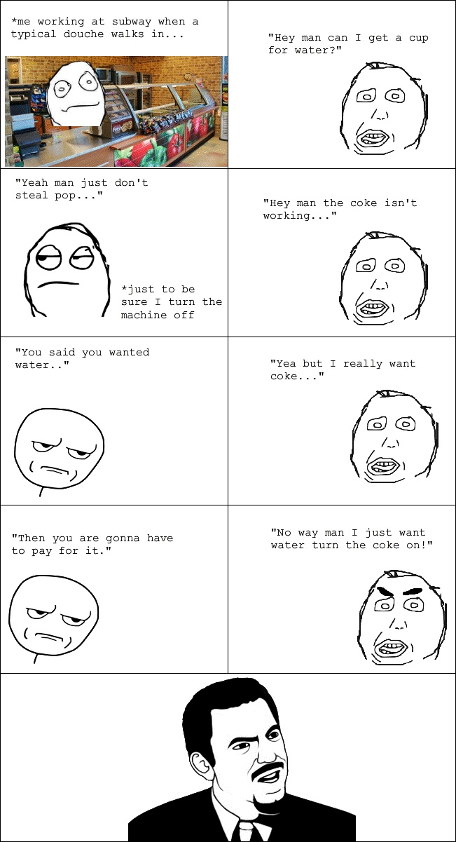 Water Cup Rage Comic