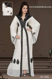 Very elegant Kaftan, that can be worn to wedding, parties or any occasion your plan is to impress!!  Available in White. www.kaftan4you.com