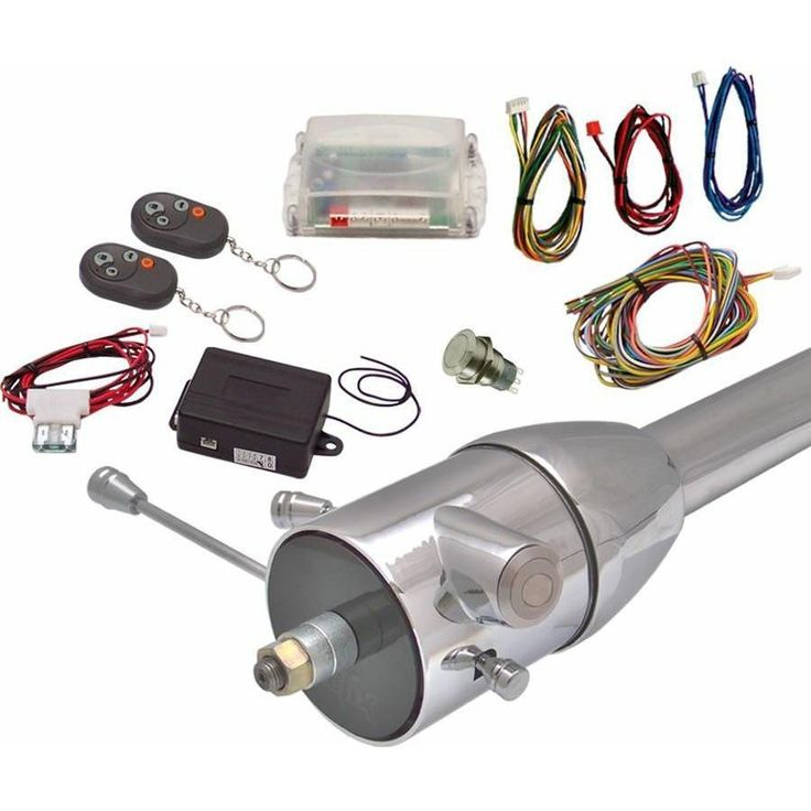 Non-Illuminated One Touch Engine Start Kit w Column Insert and Remote