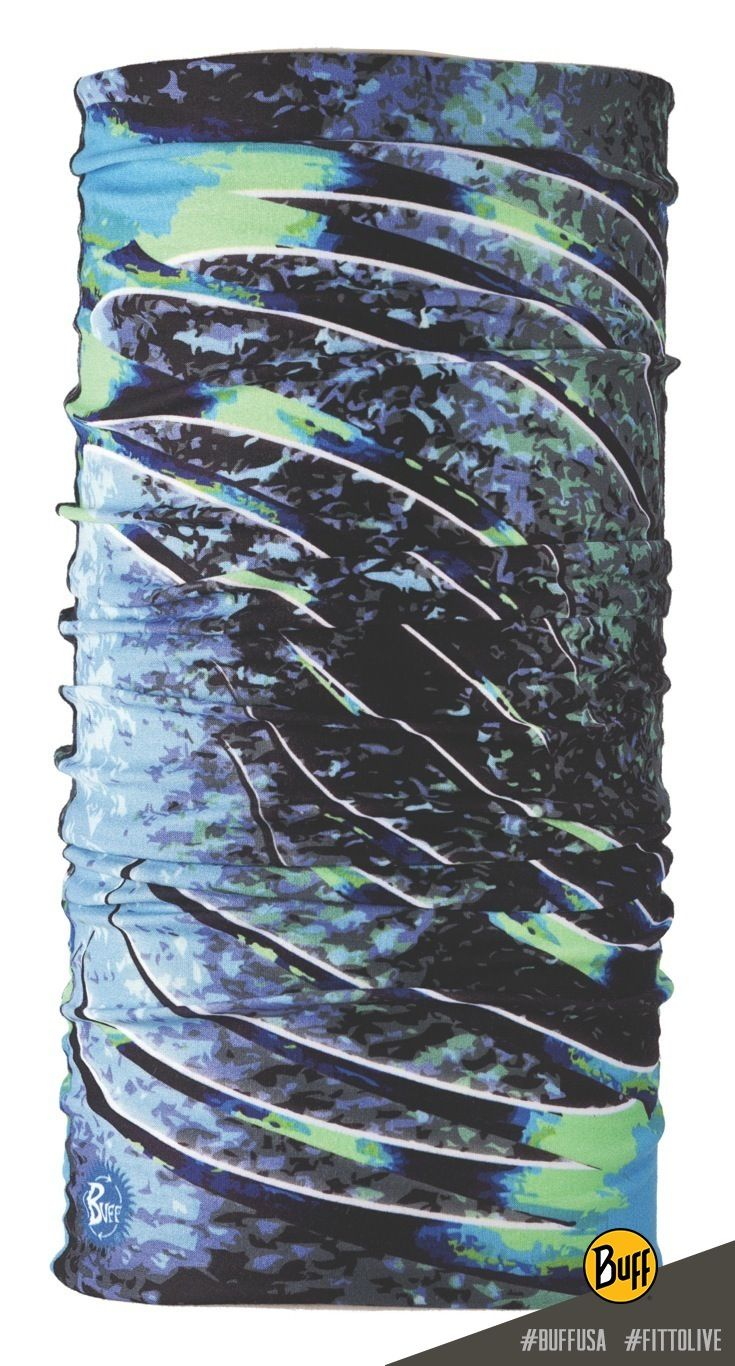 UV Buff Multifunctional Headwear: perfect to keep your skin protected when you're paddling, fishing, running, hiking, or just out and around town. Seen here: UV Buff 100535 ROOSTER FIN