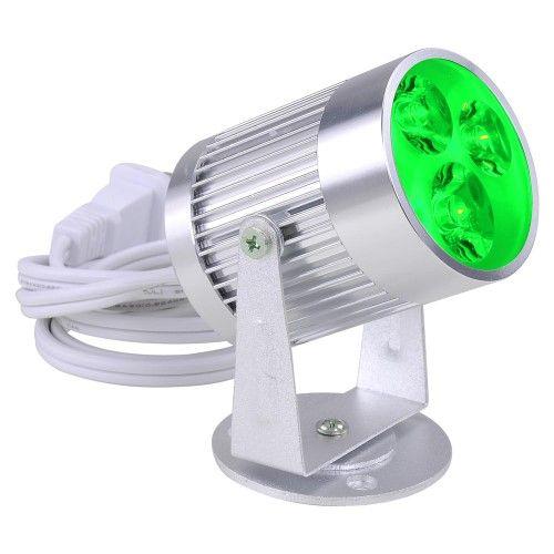3W 3 LED Green Aluminum Pinspot Stage Effect Light DJ Disco Club Party Spot Ligh…