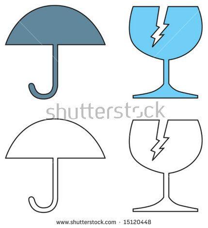 Fragile glass symbol  #fragile #cartoon #illustration