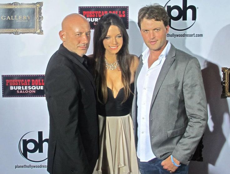 Paul Fisher, Wendy Starland, & Brian Mcfayden on the red carpet for the launch party of the CW's award winning TV series Remodeled in Las Vegas